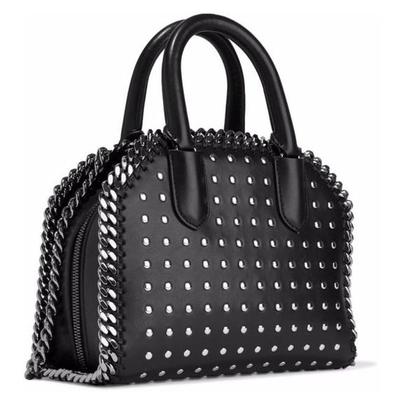 Stella McCartney Studded faux leather shoulder bag 05eba92eff80b